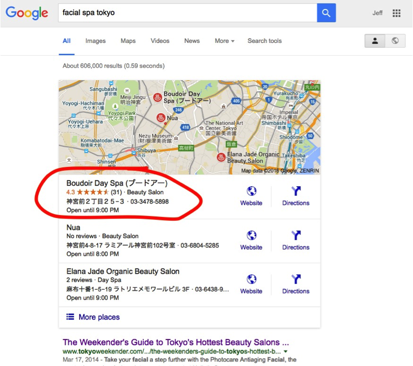 Local SEO Search on Google